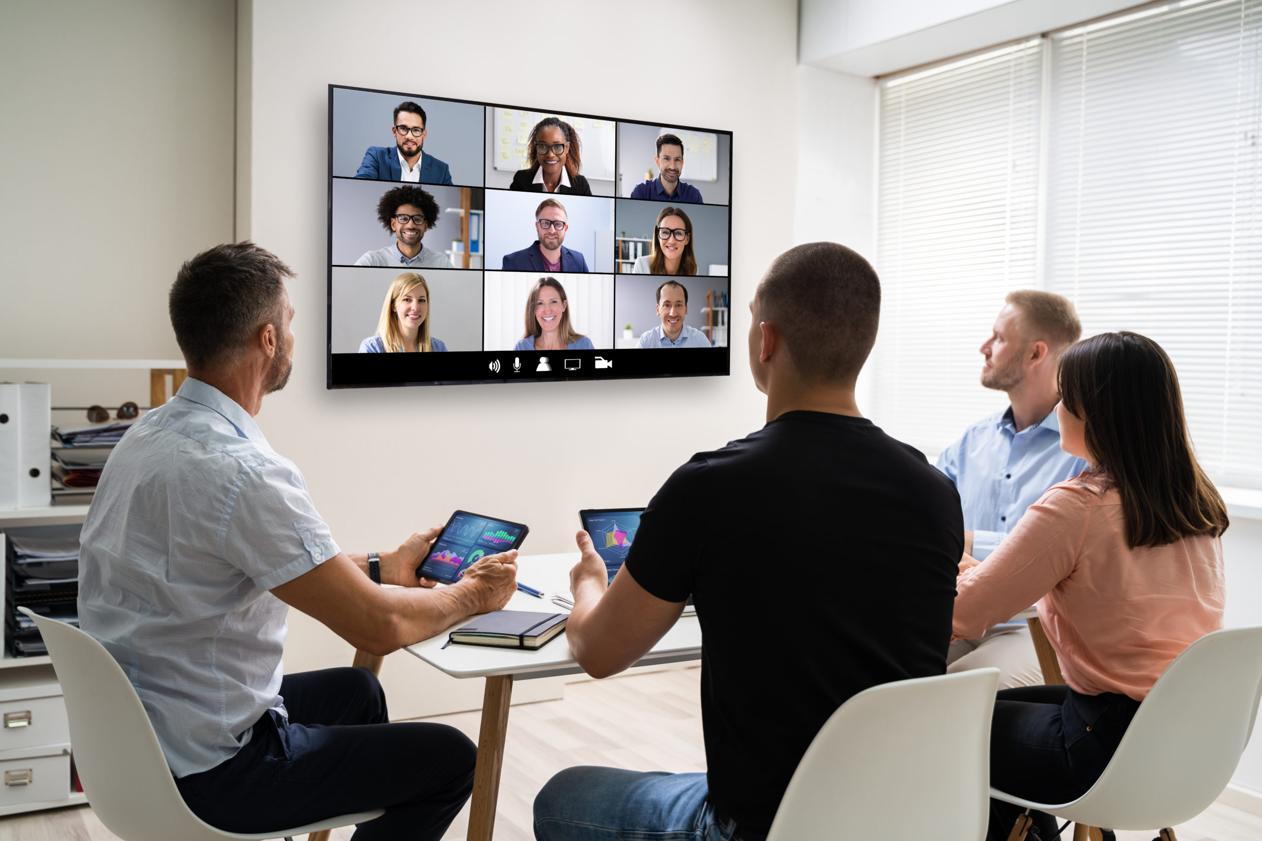 Online,Video,Conference,Training,Business,Meeting,In,Office